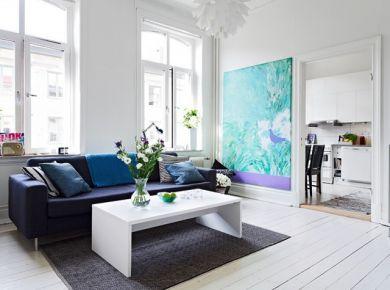 贵阳蓝白清新的北欧风小公寓装修设计效果图