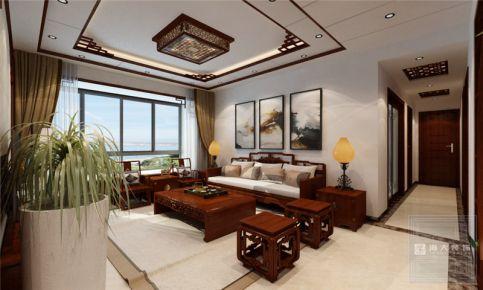 贵阳金海域—123平米中式风格家庭装修效果图