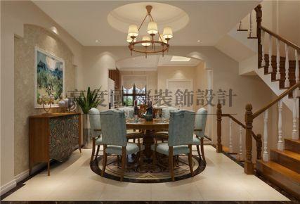 成都月映长滩 260平欧式风格家庭装修效果图