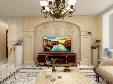 珠海三居室欧式风格装修设计案例欣赏 里维埃拉