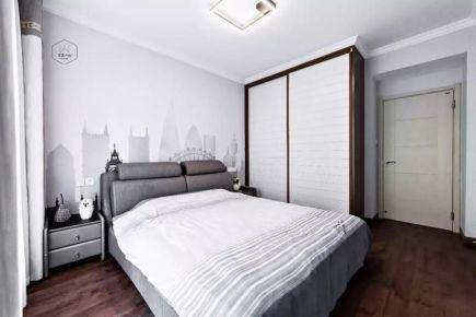 天津简美风格两房装修设计效果图 开发区洞庭路