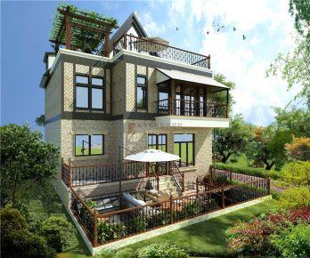 成都润泽西园 350平独栋别墅新中式风格装修效果图