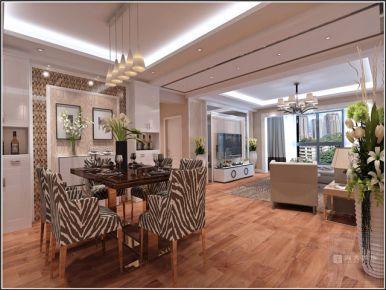 贵阳中央城—现代风格107平米三房装修设计