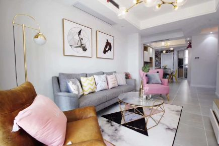 天津北欧风格三房装修设计效果图 开发区