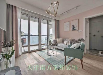 天津北欧风格两房装修设计 南益小区
