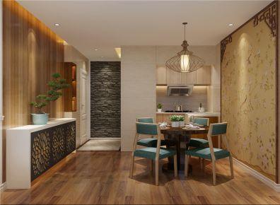 成都世龙公馆 新中式110平三房装修设计效果图