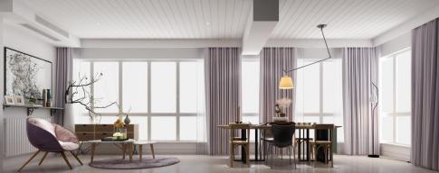 成都时代豪庭168平北欧风格四房装修效果图