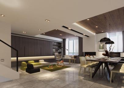 南京栖园120平现代风格家庭装修案例效果图