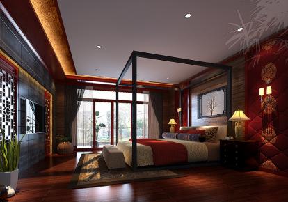 成都置信花间集460平新中式风格别墅效果图