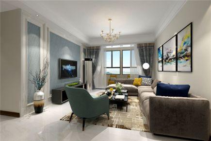 洛阳美伦香颂 简约风格四居室装修设计