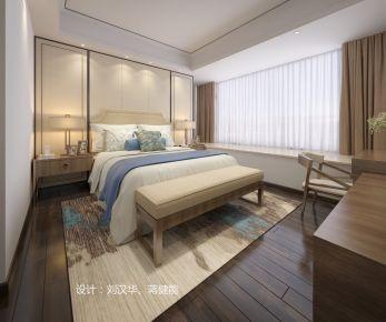 中山新中式风格三房装修设计  纯净朴素的生活
