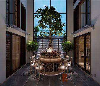 北京院子1064㎡中式风格