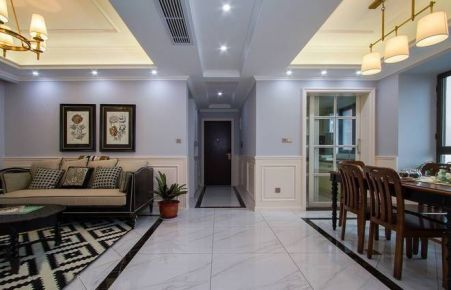 武汉美式风格三房装修设计 三居室装修效果图欣赏
