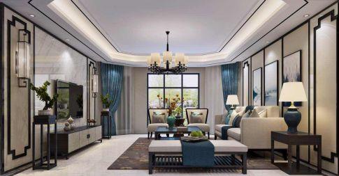扬州富川瑞园现代中式风格四房装修设计