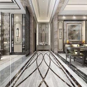中山现代轻奢中式风格复式楼装修案例欣赏