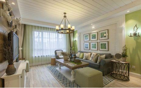 成都橄榄郡田园风格三居室装修效果图