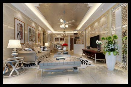 福州现代风格四居室装修设计效果图 尊域小区