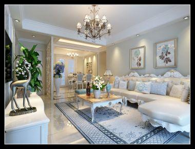 中山西区奥园13栋 美式风格家庭装修设计