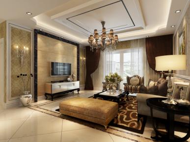 武汉富强天合园 欧式风格三房装修设计欣赏