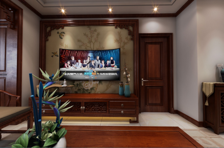烟台中式风格三居室装修设计效果图欣赏