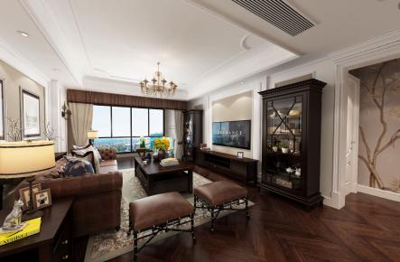 烟台美式风格三房装修设计效果图