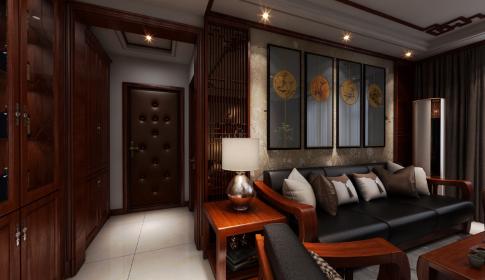 烟台中式风格三房装修设计效果图