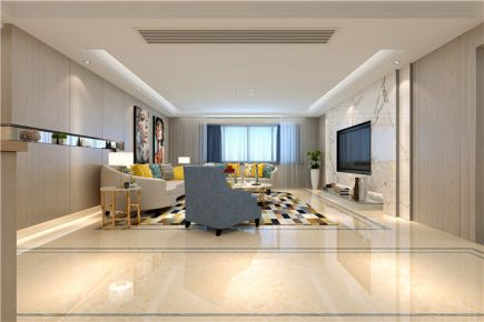 福州简约风格三居室装修设计效果图 融侨城