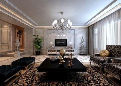 长春中信城 欧式风格三房装修设计效果图欣赏