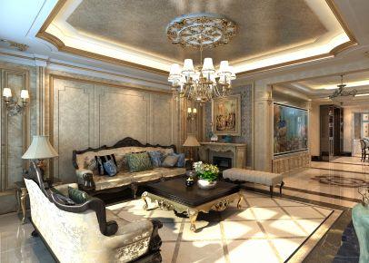 长春中海紫御华府 欧式风格家庭装修设计