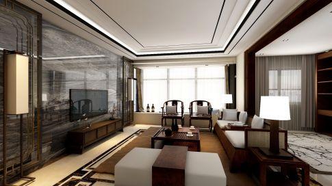 深圳中信红树湾 中式风格四房装修设计