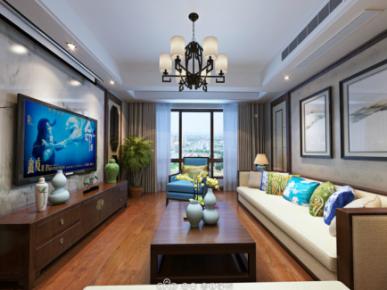 扬州中式风格家庭装修案例欣赏 中式风格三房装修设计