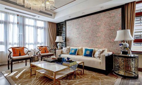 东莞新中式风格家庭装修设计 中式风格三房装修效果图欣赏