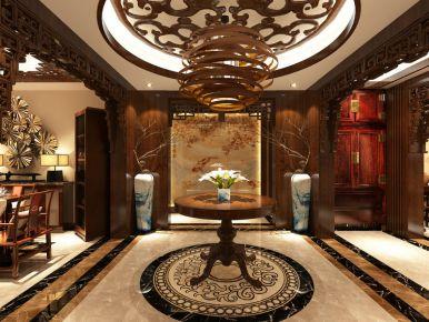 西安中治 一曲江山 中式风格三房装修效果图欣赏