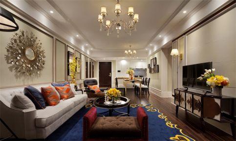 东莞美式风格家庭装修设计 美式风格三房装修效果图欣赏