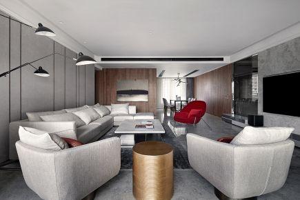 东莞现代简约风格家装效果图 现代风格三房装修设计