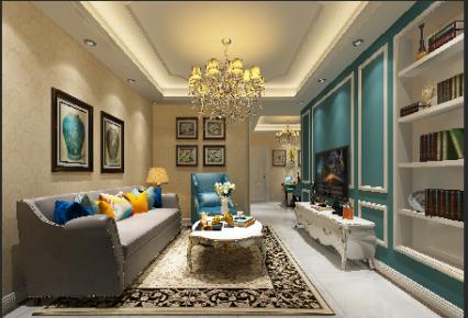 珠海华发峰尚三房一厅简欧风格装修设计