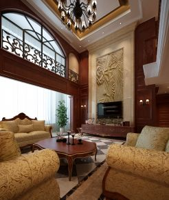 西安曲江六号 美式风格复式楼装修设计欣赏
