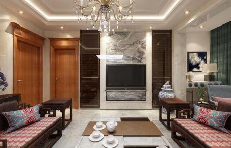 哈尔滨中式风格家庭装修效果图欣赏 哈西万达小区