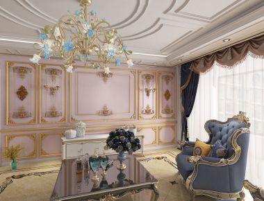 北京三居欧式混搭设计  益晨欣园欧式风格三房装修