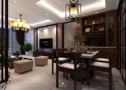 长沙东南亚风格三房装修效果图 三一街区