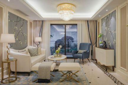 武汉千年美丽枫树苑 法式风格两房装修设计效果图