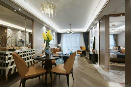 武汉现代风的轻奢表现三房装修 现代风格家庭装修效果图