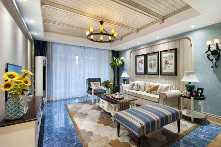 武汉98㎡地中海三居室装修 地中海风格三房装修效果图