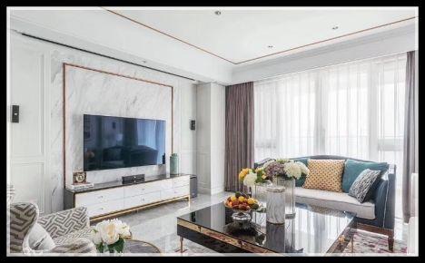 低调的现代美式风格三房装修设计  武汉水墨清华