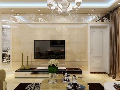 无锡欧式风格三房装修设计 听风说-富力城