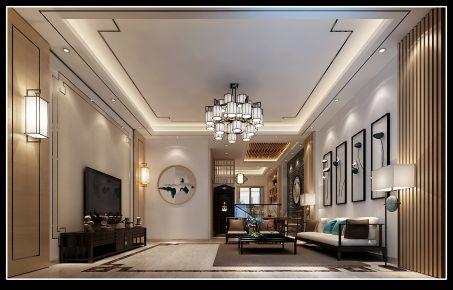 泉州中式风格四房装修设计效果图 傅先生雅居