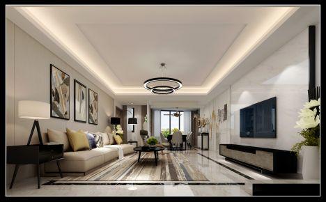 泉州现代风格两房装修设计效果图 陈姐雅居