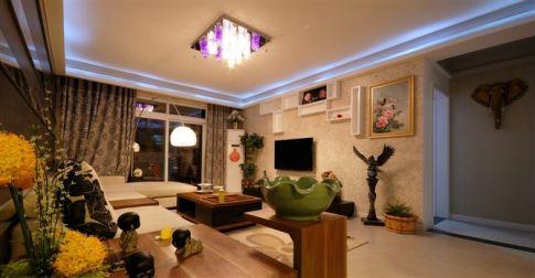 徐州绿地创意混搭风格三房装修设计欣赏