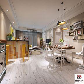 廊坊现代简约风格两房装修设计 金地经典