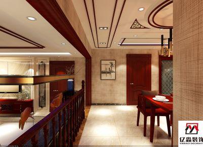 廊坊新中式风格四房装修设计 天一城